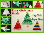 Christmas Craft For Kids – Cup Cake ChristmasTrees.