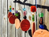 Beaded wind chime and sun catcher
